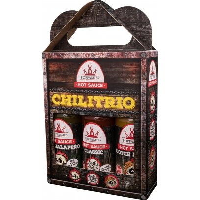 Chilitrio 3 x 150ml giftset- Mild, medium, hot- Poppamies
