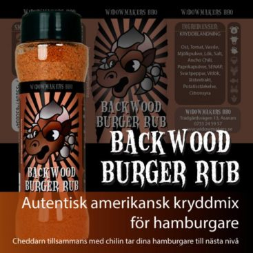 Backwood Burger Rub liten 105g - Widowmakers